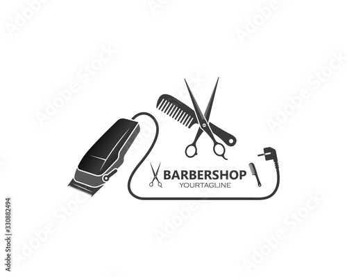 Fotomural clippers icin vector  for barber business illustration