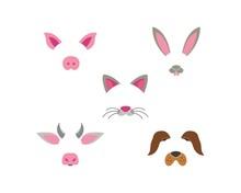 Animal Face Dog,rabbit,cow,pig...