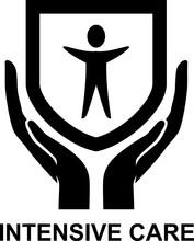 Intensive Care Logo Badge Illu...