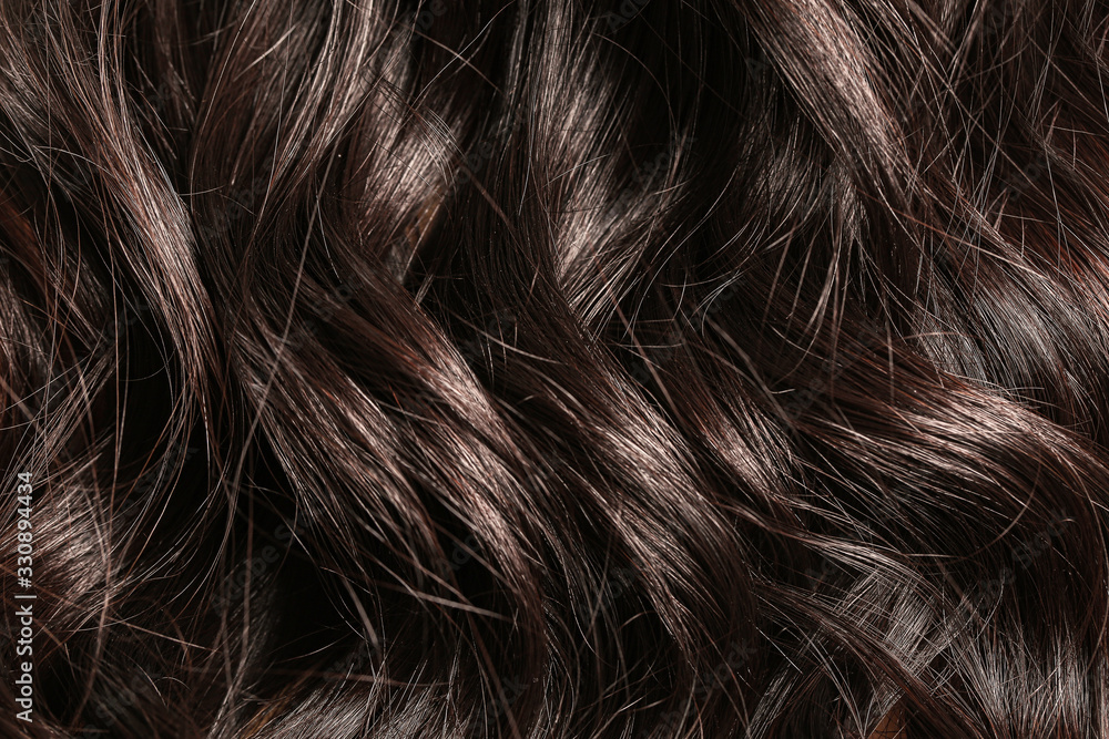 Fototapeta Beautiful long curly hair as background