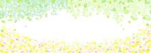 新緑と小花のフレーム