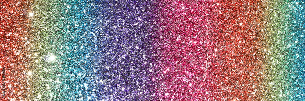 Fototapeta Image of rainbow pastel glitter background