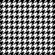 Vector Image Of Black And White Large Houndstooth Pattern.