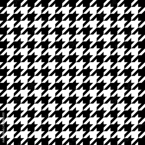 Vector image of black and white large houndstooth pattern. Canvas Print
