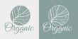 Organic health natural vegan ecology product logo