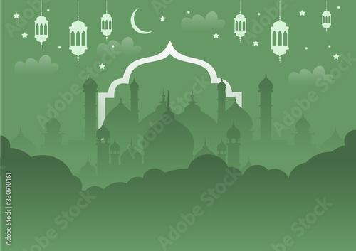 Ramadan islamic background arabesque Canvas Print