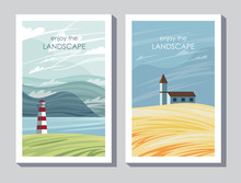 2 Postcards Enjoy The Landscape