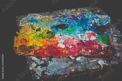 Fototapety, obrazy: paint palette