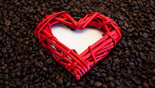 Whole Bean Coffee. Heart In Th...