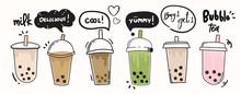 Bubble Milk Tea Cup Design Col...