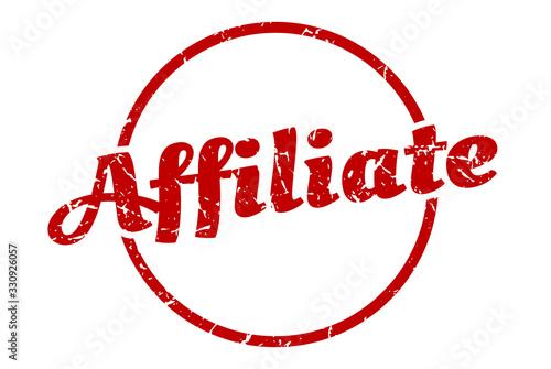 Photo affiliate sign. affiliate round vintage grunge stamp. affiliate
