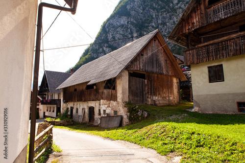 View of Slovenian chalet in Stara Fuzina, Slovenia