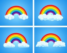 Vector Symbol Of Rainbow And C...