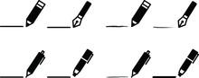 ペンや鉛筆のアイコン...