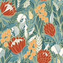 Protea And Eucalyptus Leaves P...