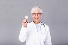 Female Mature Doctor With A St...