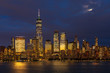 Full Moon over Manhattan Skyline view from New Jersey, USA