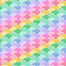 Rainbow Geometric Seamless Vector Repeat Pattern Background. Great For Children's Products, Parties, Bedding, Clothing, Stationery, Sleepwear
