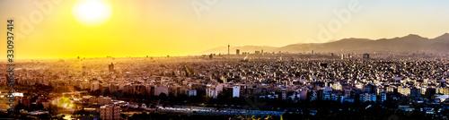 Tehran skyline at sunset.