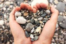 Heart Shaped Small Pebbles In ...