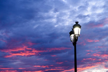 Isolated Streetlight With Clou...