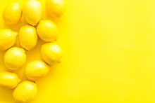 Lemons Frame. Whole Fruits On ...