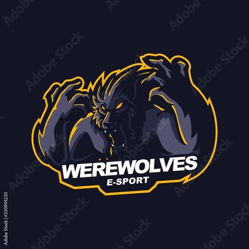 Obraz na plátně werewolves e-sport gaming mascot logo template