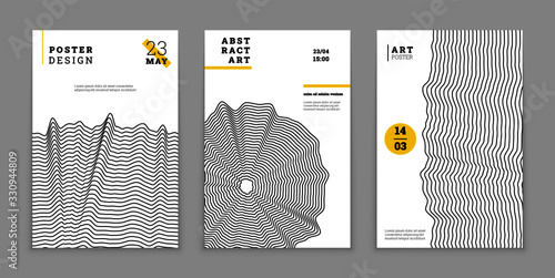 Fotografia Abstract geometric poster design