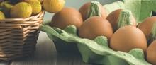 Chicken Eggs In An Open Cardbo...
