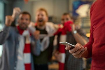 Betting online during a sport match
