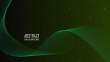 Wave Line Abstract Dark Green ...