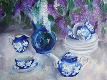 Oil Painting Still-life On Whi...