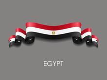 Egyptian Flag Wavy Ribbon Back...
