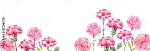 カーネーション イラスト 水彩 花 母の日 背景 Wallpaper Mural