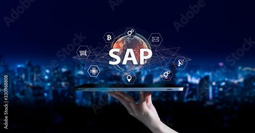 SAP - Business process automation software and management software (SAP) Wallpaper Mural