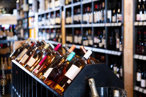 Obraz Quality wine bottles waiting for customers - fototapety do salonu