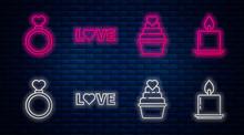 Set Line Love Text, Wedding Ca...