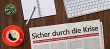 Zeitung Auf Schreibtisch - Sic...