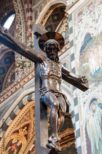 The Altar of Sant'Antonio – Donatello - Basilica of Saint Anthony of Padua, Ital Canvas Print