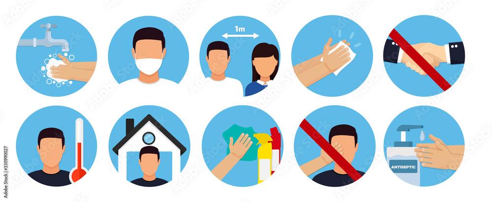 Fototapeta Hand sanitizers. coronavirus hygiene products stop viruses coronavirus. Hygiene product.