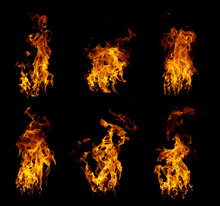 Group Of Real And Hot Flames A...