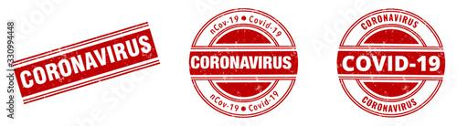 Stampa su Tela coronavirus stamp. corona virus rubber stamp banner