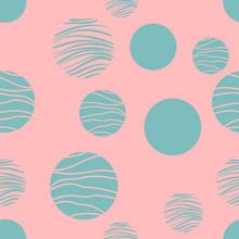 Pink Vector Background With Wh...
