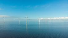 Windmill Row Of Windmills In T...