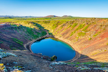Kerid Is A Volcanic Crater Lak...