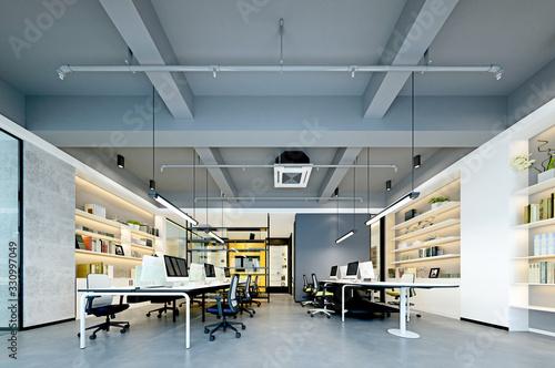 3d render of modern working office Poster Mural XXL