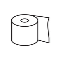 Roll Of Toilet Paper Icon- Vec...