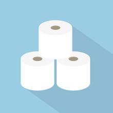 Rolls Of Toilet Paper Icon- Ve...
