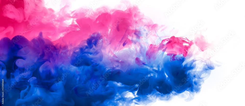 Fototapeta Abstract background banner with colorful ink in water. Festival of Colors. Color Explosion Paint Texture