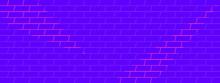 Purple Brick Wall Vector Abstr...